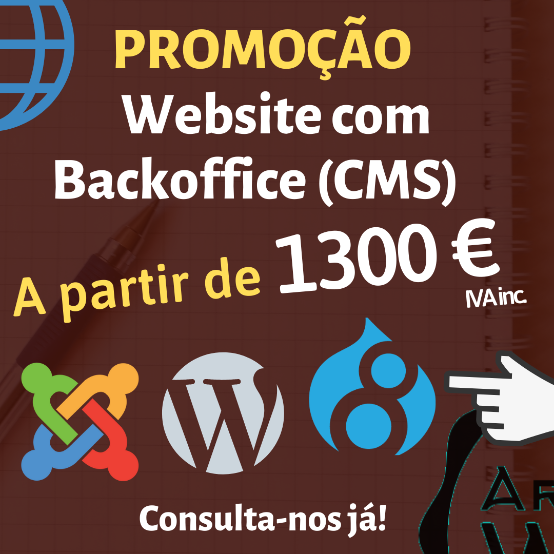 Site com BackOffice (CMS) desde 1200 euros!